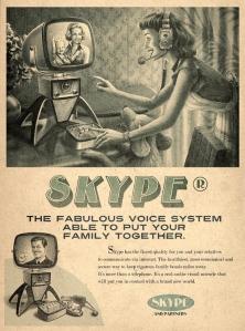 Retro Skype ad designed by Moma Propaganda.